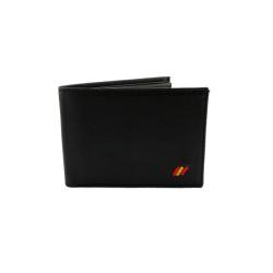 Cartera porta credencial cnp con monedero color rojo.(Insignia Incluida)