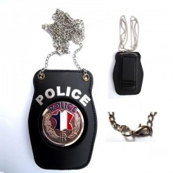 Porte insigne Police nationale