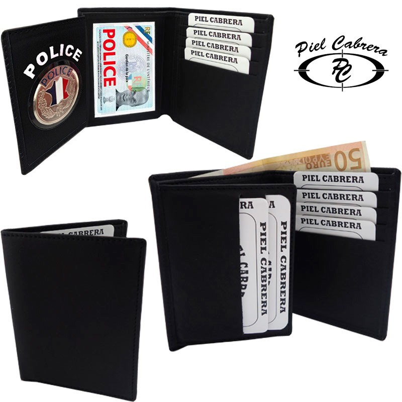 Porte carte 3 v volets police nationale - Porte carte police nationale avec grade ...