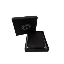 Cartera porta credencial cnp con monedero color rojo