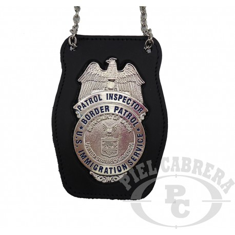WALLET + BADGE DETECTIVE IMMIGRATION SERVICE EEUU (included badge)