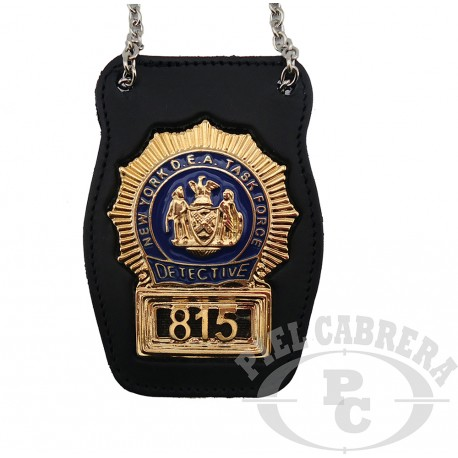 WALLET + BADGE DETECTIVE NEW YORK (included badge)