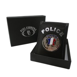 Porte Carte Cuir Police Nationale