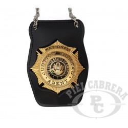 Holder Badge JUSTICE AGENT (included badge)