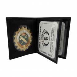 Cartera porta placa Guardia Civil con insignia
